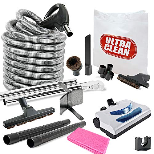 Central Vacuum Kit Electric Powerhead 30 Foot Hose