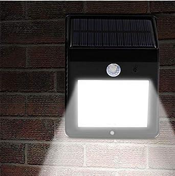 luz solar lamparas solares exteriores led aplique solar pared exterior lamparas solares para jardin luces led para casas exterior aplique solar focos solares exterior apliques de pared: Amazon.es: Iluminación