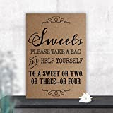 Vintage Sweet Table Sign for Weddings and Parties (Z) (Brown)