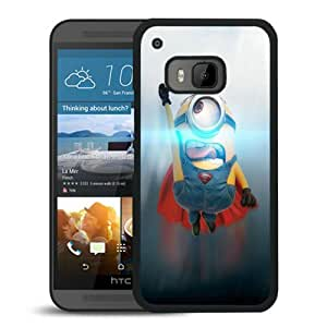 HTC ONE M9 Case,Funny Minion Superman Black For HTC ONE M9 Case
