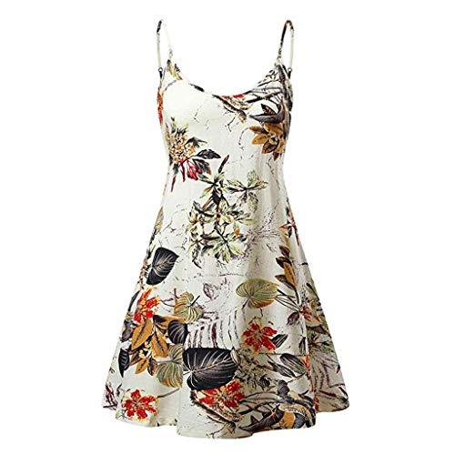 Sunhusing Women's Simple Gradient Color Tie Dyed Print Sleeveless Sling High Waist Above Knee Camis Dress (XL, ()