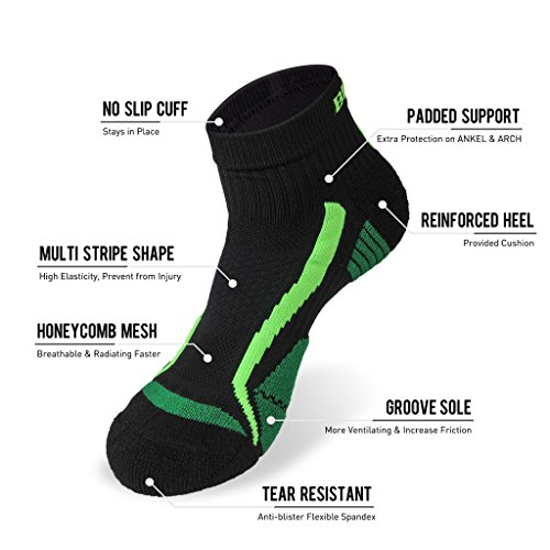 Men Socks,Low Cut Athletic Socks 3 Pack Coolmax Ultra breathable Super fit