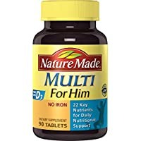 90-Count Nature Made Multi for Him Tablets with D3-22 Essential Vitamins & Minerals