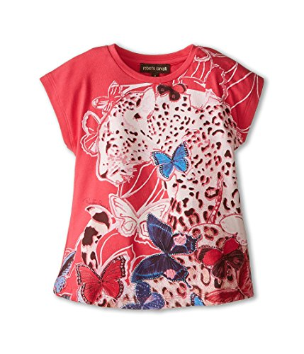 Roberto Cavalli Kids Baby Girl's Short Sleeve Butterfly Tee (Toddler) Multi T-Shirt by Roberto Cavalli
