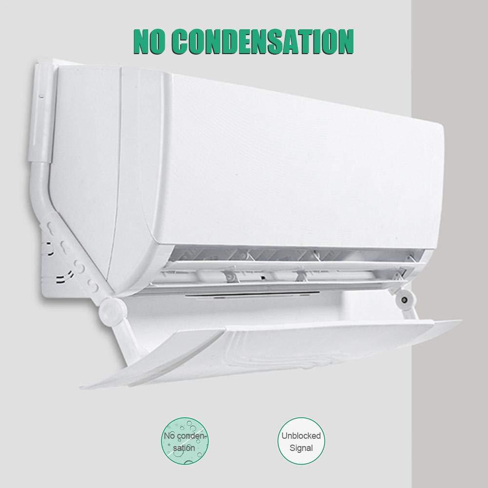 Aire Acondicionado Deflector Aire Acondicionado Retr/áctil Parabrisas Ajustable Anti Directo Soplado Deflector Cubierta De Gu/ía De Aire para Respiraderos Pared Lateral Accesorios para El Hogar
