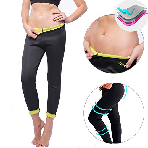 Kiwi-Rata New Ankle Long Thermo Pants Neoprene Sweat Sauna Suit Yoga Leggings for Women Ladies Weight Loss Burn - Rates Business Usps