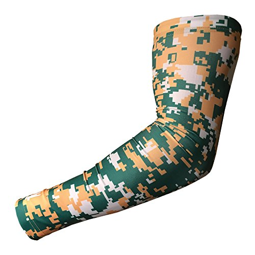 Sports Compression Arm Sleeve - Baseball Football Basketball - Youth and Adult Sizes from Unreal Sportswear (Youth Small, Digital Camo Digital Camo Green / Yellow / White)