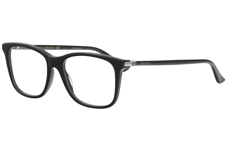 16bda1703c0 Amazon.com  Gucci GG 0018O 001 Black Plastic Square Eyeglasses 52mm   Clothing