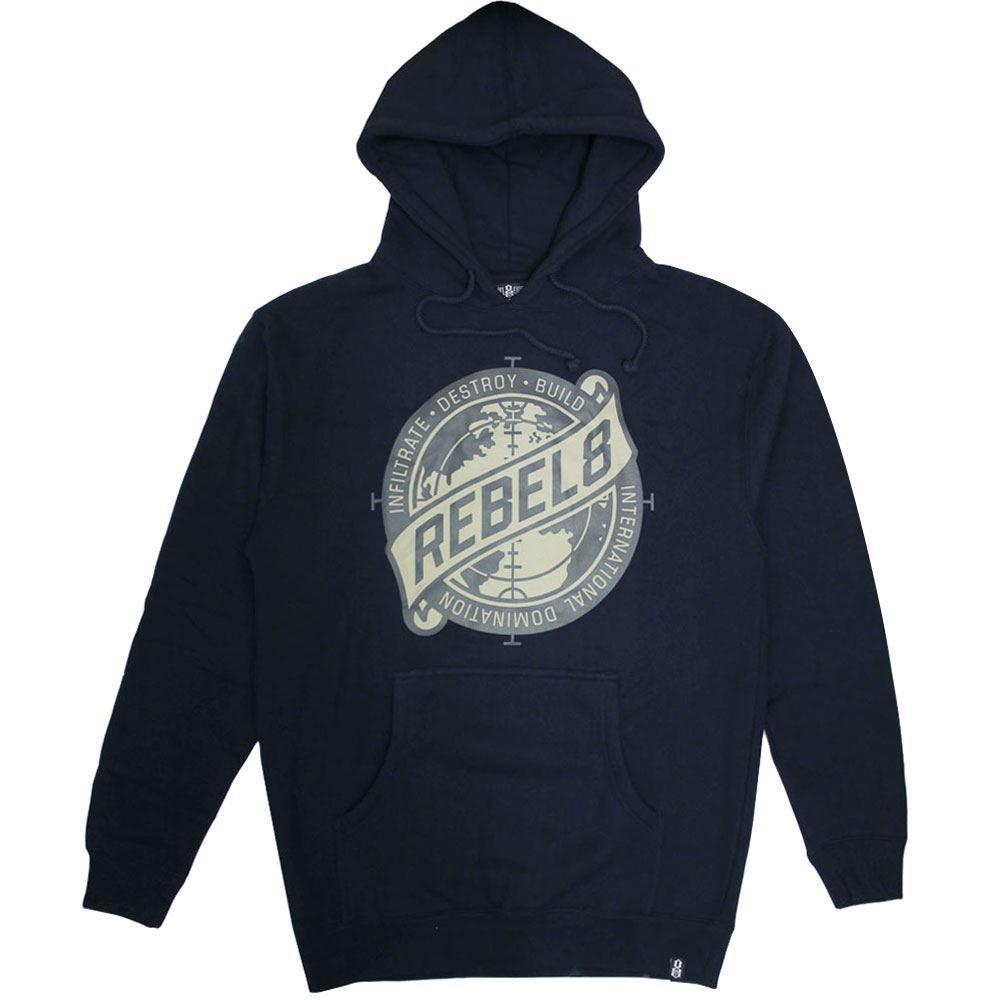 Rebel8 Sights Set Pullover Hoodie Navy
