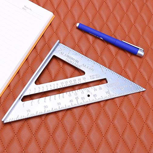 Triangle Square Ruler Aluminum Alloy Speed Square Protractor Miter for Carpenter Measurement Tool