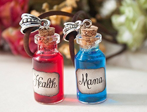 Health and Mana Potion Necklaces