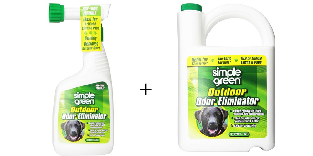 Simple Green Outdoor Odor Eliminator For Pets, Dogs, Ideal for Artificial Lawns & Patio