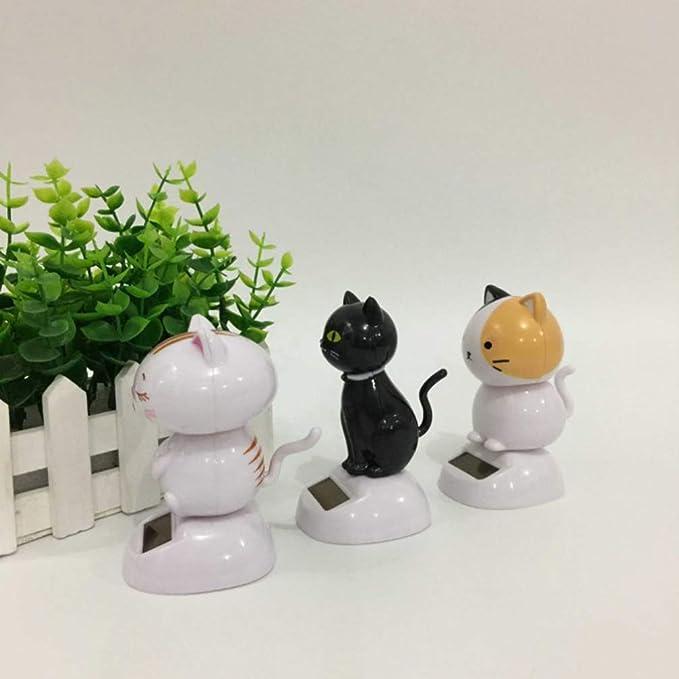 Happyyami adorno de coche con energ/ía solar ecol/ógico tablero de instrumentos decoraci/ón escritorio adorno para el hogar