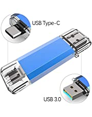 KOOTION Chiavetta USB C 32/64/128GB 3.0 Chiave USB Tipo C OTG 2 en 1 Penna USB Chiavette USB Memoria Flash Pendrive per Telefoni Cellulari, Tablet, PC, MacBook, Android (Huawei, Xiaomi, Honor, Samsang)