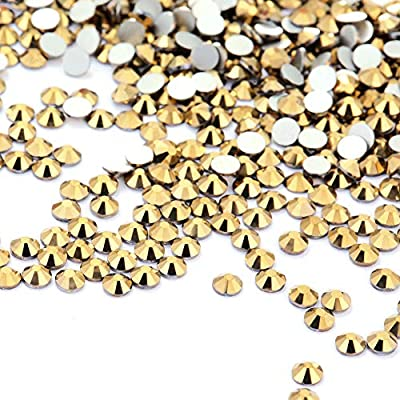 3456 Pieces Nail Crystals AB Nail Art Rhinestones Round Beads Flatback Glass Charms Gems Stones, 6 Sizes for Nails Decoration Makeup Clothes Shoes