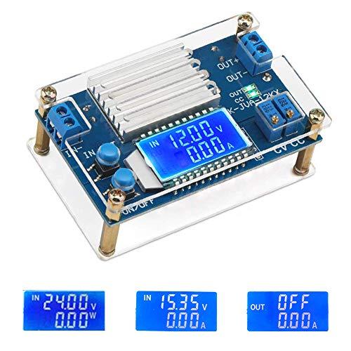 (ICStation DC-DC Adjustable Buck Converter 5.3V-32V to 1.2V-32V 12A Voltage Regulator Step Down Module LCD Digital Voltmeter Ammeter with Shell)