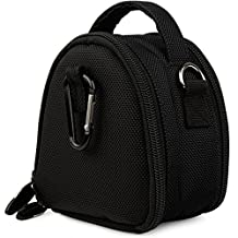 Black VG Laurel Edition Stylish Nylon Camera Carrying Case Pouch for Canon PowerShot A2300 A2400 IS A3400 IS A4000 IS A2200 A3300 IS A3200 IS Compact Digital Camera