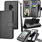 Galaxy S9 Case, Samsung S9 Wallet Case, Samsung Galaxy S9 PU Leather Case, Tekcoo Luxury Cash Credit Card Slots Holder Carrying Folio Flip Cover [Detachable Magnetic Hard Case] & Kickstand -Black