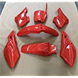 HongK- 7 PCs Red Plastic Fairing Body Cover Kits For Baja Dirt Runner 125
