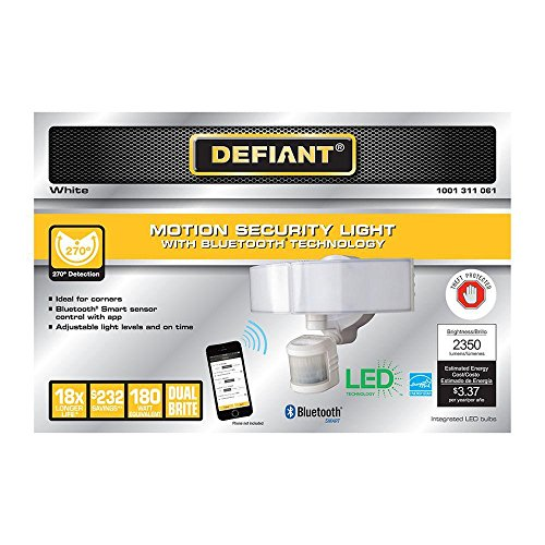 Defiant Outdoor Led Bluetooth 270 Degree Motion Security