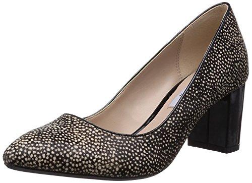 de Negro Cordones Cloud Clarks Mujer de Zapatos Blissful Negro Piel para nxpxBU