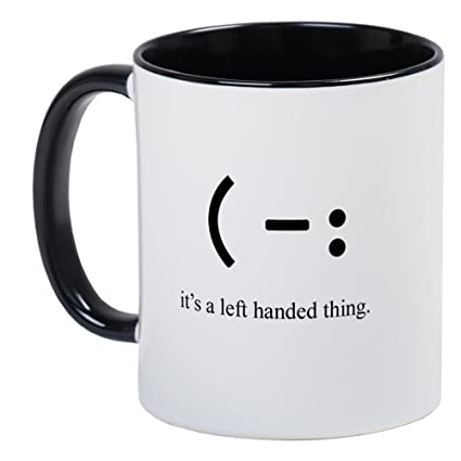 b980ec8b655 Image Unavailable. Image not available for. Color: CafePress - Left Handed  Mug - Unique Coffee ...