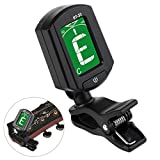 WINOMO Guitar Tuner ENO ET-33 Clip-on Digital LCD Chromatic Bass Violin Ukulele (Black)