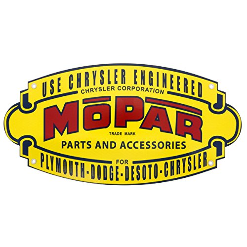 Graphics Express Chrysler Mopar Parts and Accessories Seal Garage Metal Sign 18 x 9