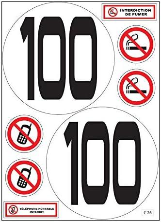 A4 Sticker Begrenzung Höchstgeschwindigkeit 100 Km H Lkw Bus C26 Aufkleber Küche Haushalt