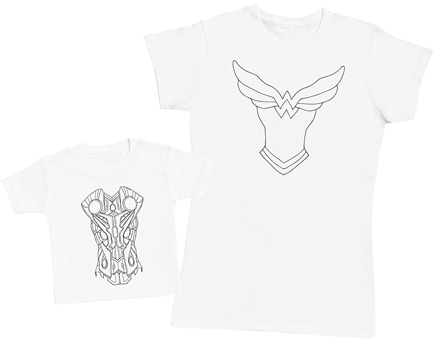 Matching Mother Baby Gift Set Armour Baby /& Mum Womens T Shirt /& Baby T Shirt