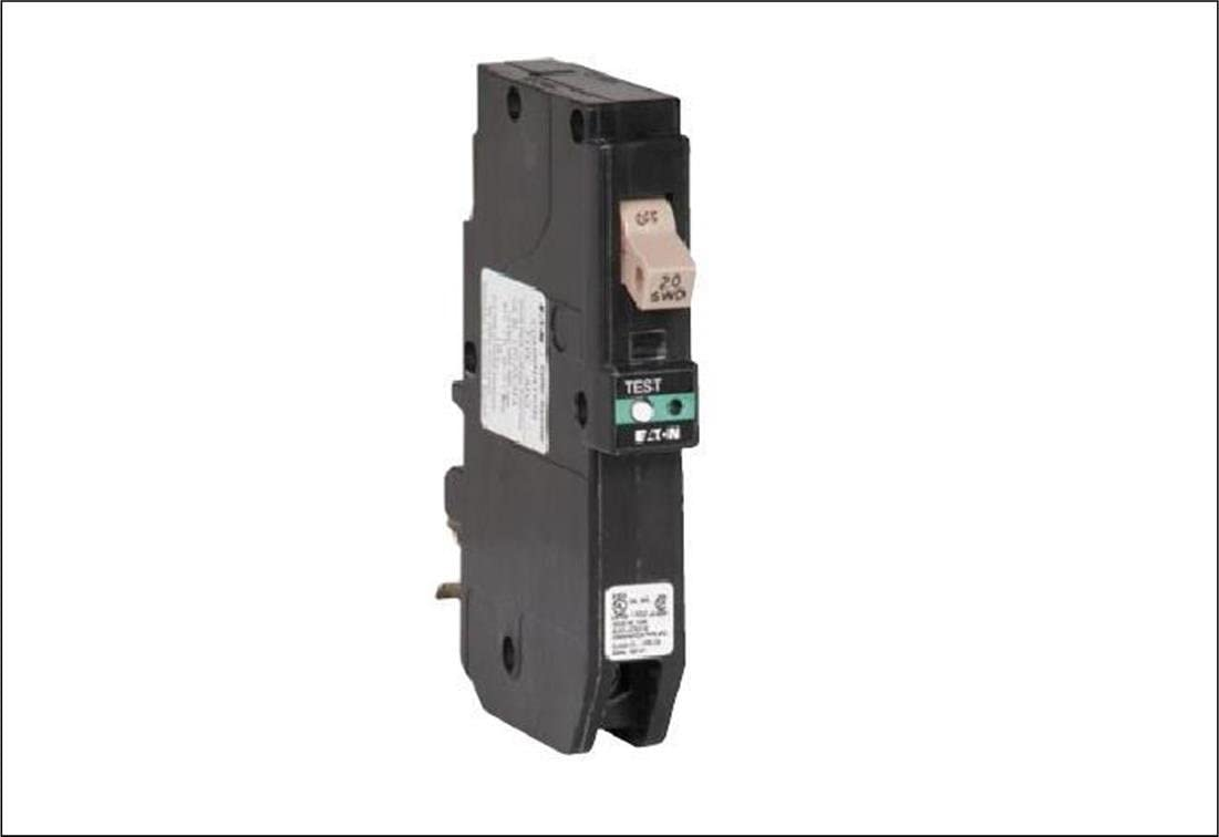 Eaton CHFCAF120PN Plug-In Mount Type CH Combination Arc Fault Circuit Breaker 1-Pole 20 Amp 120 Volt AC Fire-Guard