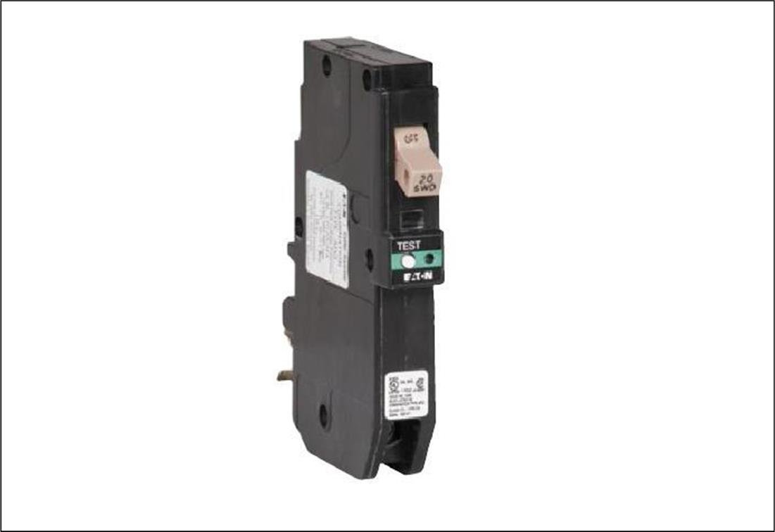 Eaton CHFCAF120PN Plug-In Mount Type CH Combination Arc Fault Circuit Breaker 1-Pole 20 Amp 120 Volt AC Fire-Guard