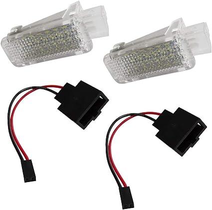 AERZETIX: Par de lamparas LED para iluminacion bajo las puertas de ...