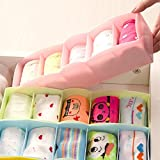 Tim Hawk Plastic Divider Organizer Storage Box for Underwear, Tie, Bra, Socks and Cosmetics (Multicolour, DrawerOrganizer05) - Pack of 1