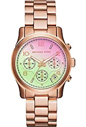 Michael Kors Watches Runway Chronograph Stainless Steel Watch (Rose Gold)