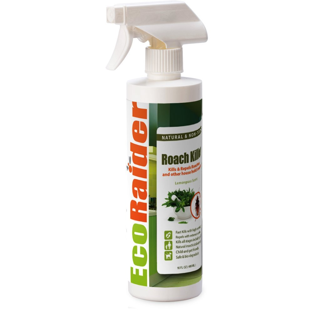 EcoRaider Roach Killer and Repellent (16OZ), Fast Kill & Lasting Repellency, Green & Non-Toxic