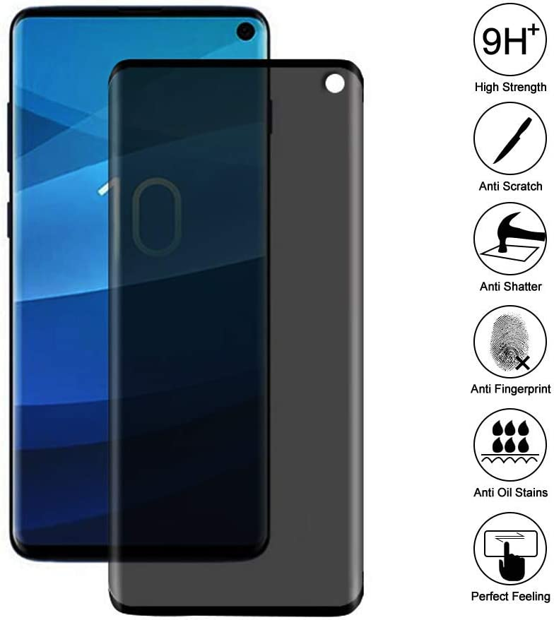 Black - 5 Pack Josi Minea x5 Pcs Privacy Tempered Glass Screen Protector with Edge to Edge Coverage /& Anti Spy HD Ballistic LCD Cover Guard 3D Shield Compatible with Samsung Galaxy S10e