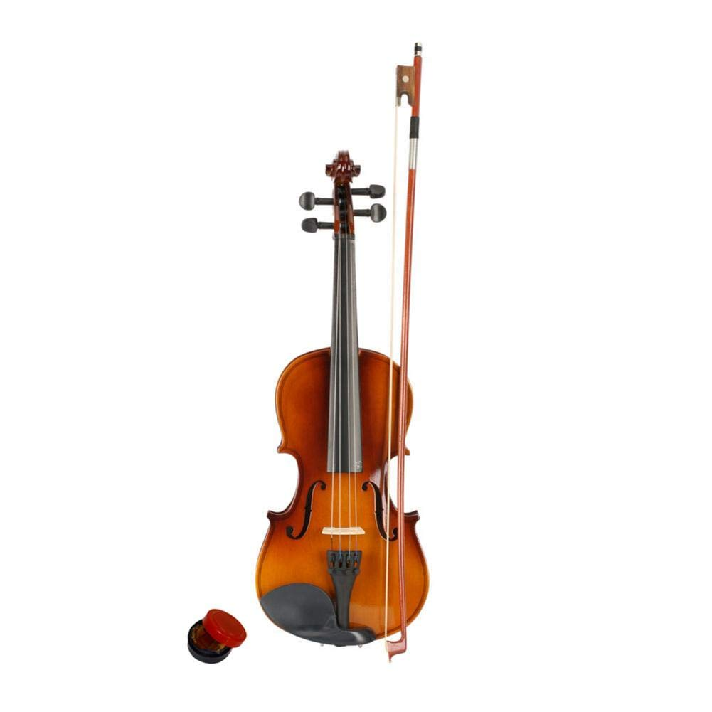 reakfaston Natural 3/4 Size Acoustic Violin with Case/Bow/Rosin