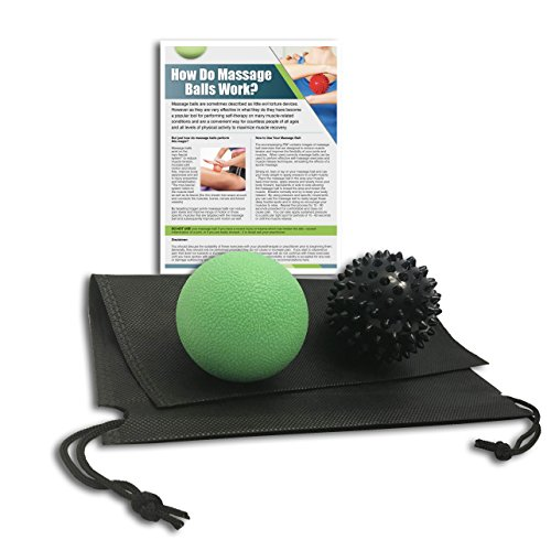 Massage Ball, Spiky – Best Stimulating Deep Tissue Body Massage for Again, Neck & Shoulder – Great Muscle Pain & Stress Relief Curler, Physical Therapy, Yoga, Reflexology, Acupressure & Therapy Balls – DiZiSports Store