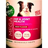 GNC Pets Mega Hip and Joint Health Beef Flavor 60 Tablets