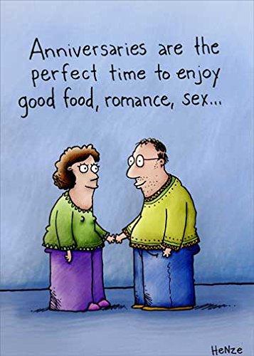 Funny Anniversary Card (Good Food & Romance Oatmeal Studios Funny Anniversary Card)