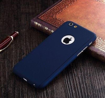 TUZECH Front and Back Case For Apple iPhone 5/5s Plastic   Blue