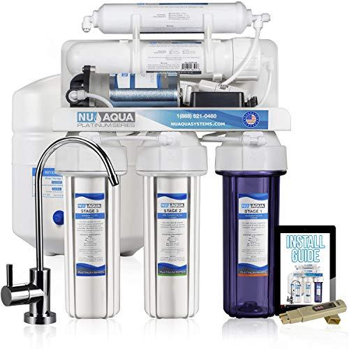 NU Aqua Platinum Series 100GPD Under Sink Reverse Osmosis Drinking covid 19 (Reverse Osmosis Water Benefits coronavirus)