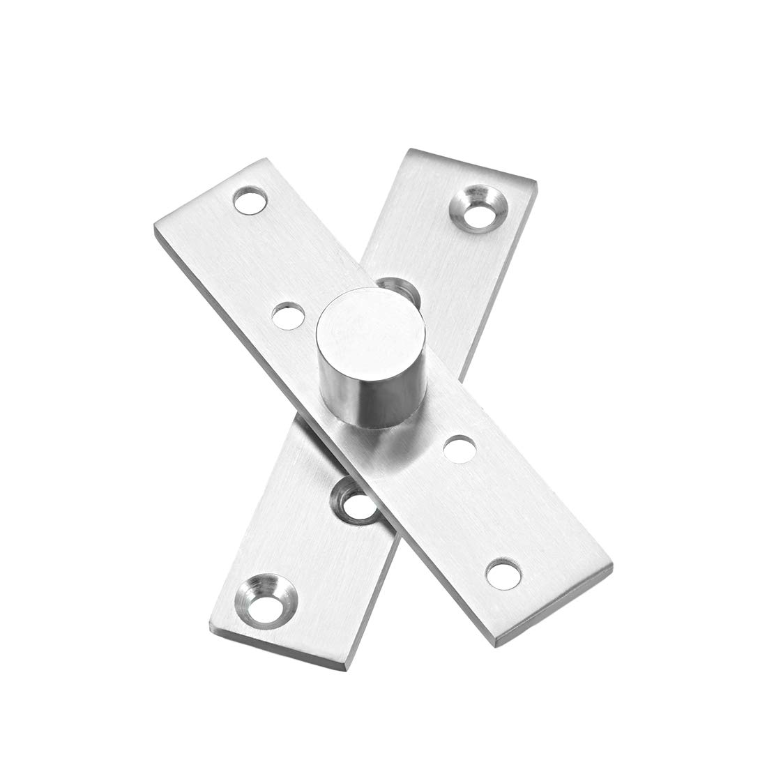 uxcell 4 Sets Stainless Steel 360 Degree Door Pivot Hinge 100 x 24mm
