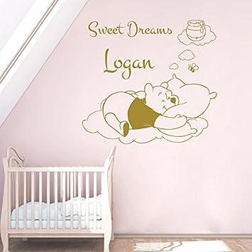Vinyl Wandtattoo Zitat Sweet Dreams Winnie Puuh the Pooh Bienen ...