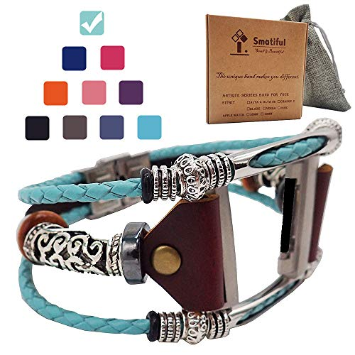 Smatiful Ionic Bands for Women, Adjustable Replacement Strap for Fitbit Ionic, Turquoise (Teal Green)