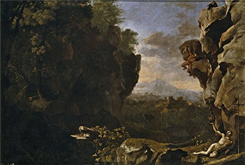 [Oil Painting 'Swanevelt Herman Van Paisaje Con San Benito De Nursia 1634 39 ' Printing On Perfect Effect Canvas , 30 X 45 Inch / 76 X 114 Cm ,the Best Bathroom Gallery Art And Home Decoration And Gifts Is This Cheap But High Quality Art Decorative Art Decorative Prints On] (Duckbill Costume Pattern)