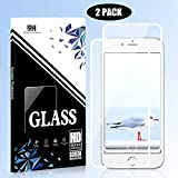 iPhone 8 Plus iPhone 7 Plus 6s Plus 6 Plus Screen Protector [2 Pack] Full Coverage HD Tempered Glass Bubble-Free Anti-Scratch 3D Touch FENGJ Compatible with iPhone 8 Plus 7 Plus 6s Plus 6 Plus - White
