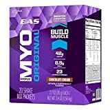 EAS Myoplex Original Protein Shake Mix Packets, Chocolate Cream, 2.7 oz packets, 20 servings