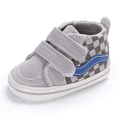 (Meckior Save Beautiful Toddler Baby Girls Boys Shoes Infant First Walkers Sneakers (12-18 Months, E-Gray) )